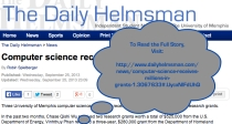 RobinSpielberger.HelmsmanArticle.Computer Science Department Receives Million In Grants.2013