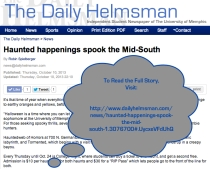 RobinSpielberger.HelmsmanArticle.Haunted Happenings Spook The Midsouth.2013