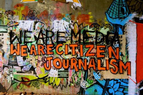 citizen journalism graffiti
