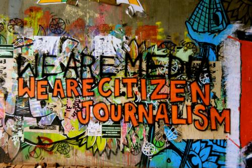 citizen journalism graffiti