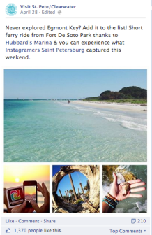 VSPC FB post about Instagrammers