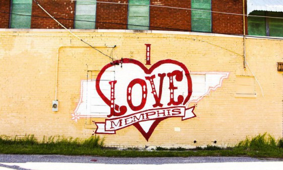 i love memphis street graffiti